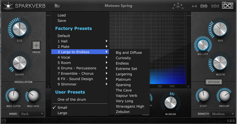 Tail Size For Small Room Reverb