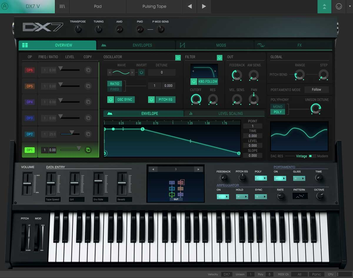 Review - DX7 V by Arturia