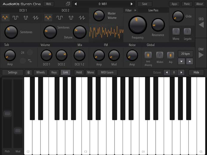 Music for Tablets – AudioKit Synth One