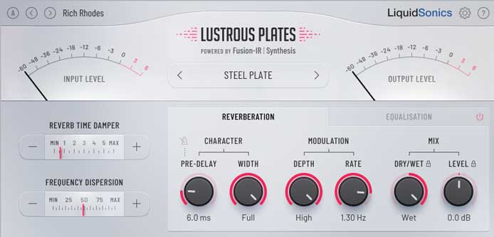 Review – Lustrous Plates Reverb from Liquidsonics